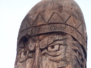 Perun idol at Vladivostok (Владивосток) Russia